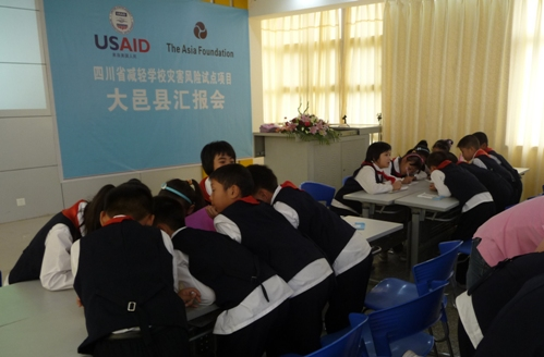 Students learn about disaster risk reduction in china
